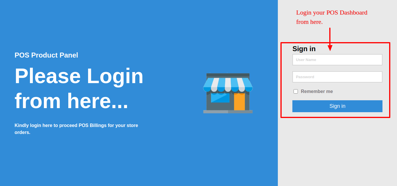 Login Page Frontend
