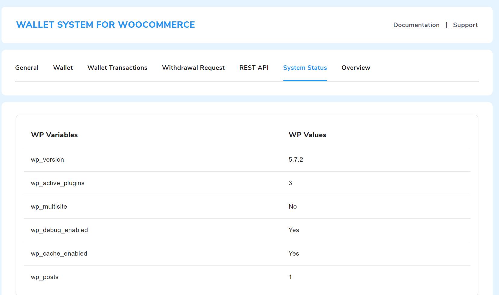 wp variable status