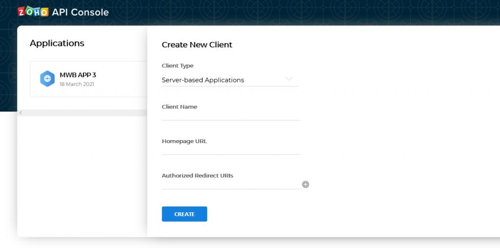 create client app
