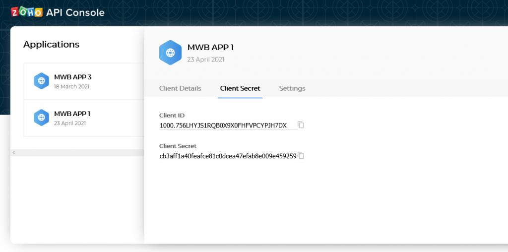enter client secret