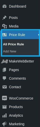 add new price rule