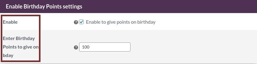 points on birthday