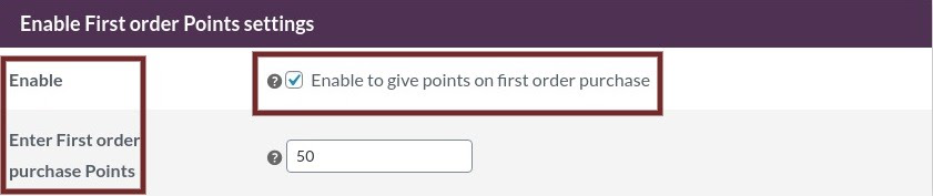 points on first purchase