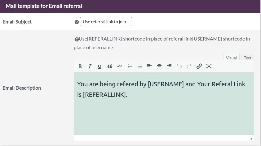 referral coupon code template