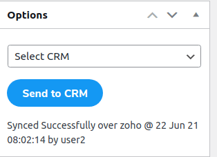 ZOHO CRM contact Form 7