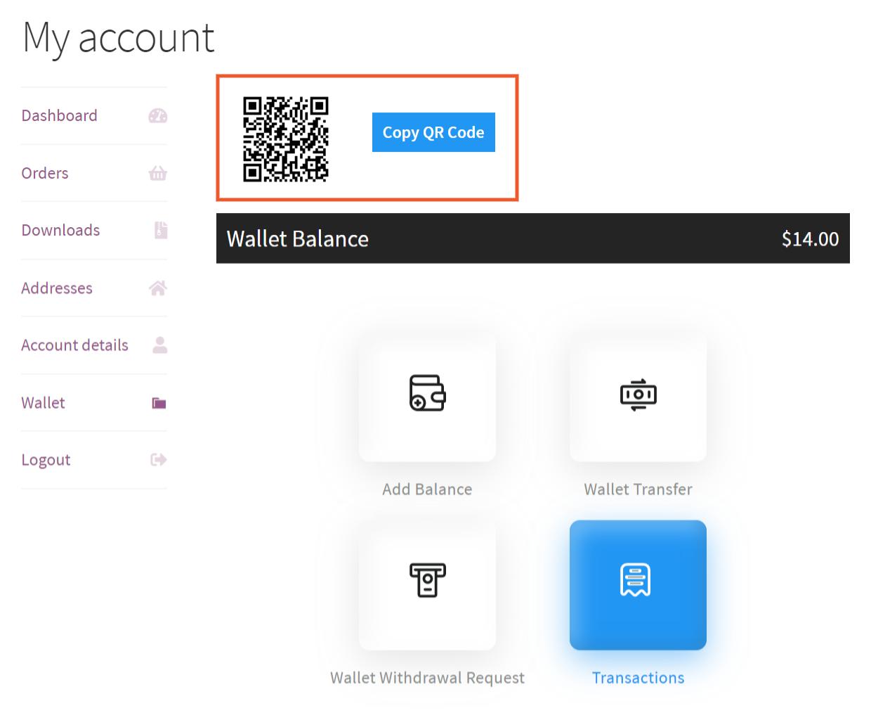 wallet qr code