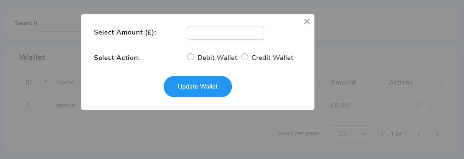 wallet user list