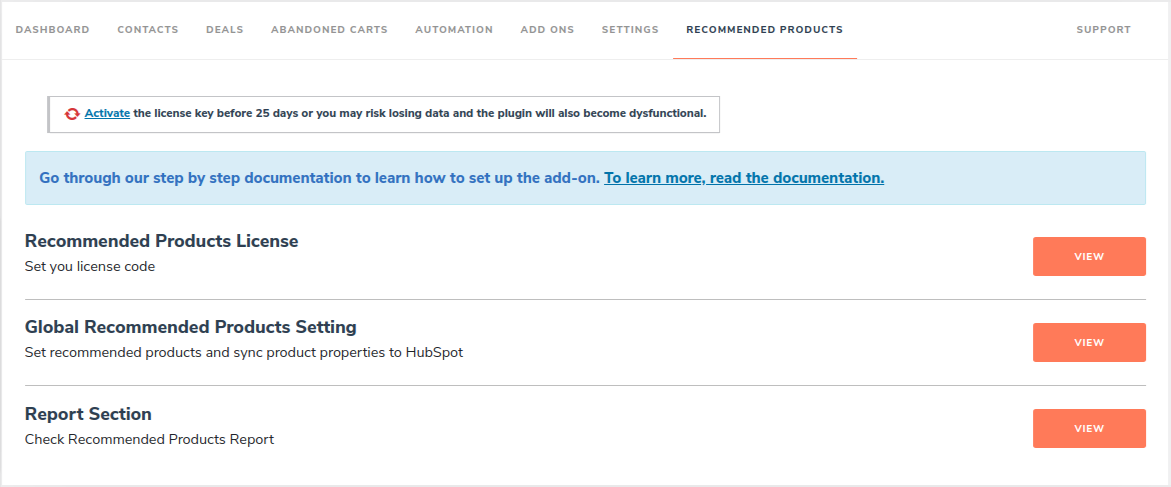 HubSpot ‹ WP1 (4) recommended plugin