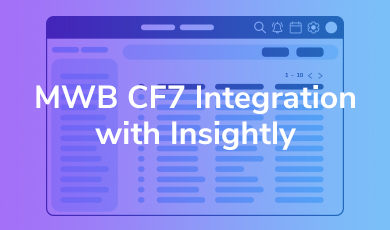 MWB CF7 Integration with Insightly