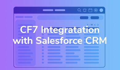 CF7 integration salesforce CRM