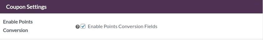 points conversion