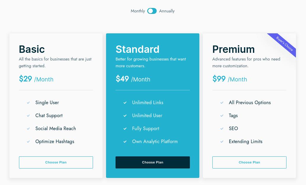 Pricing card-hubspot theme