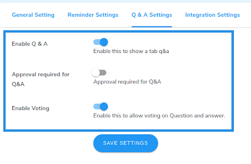 enable Q&A