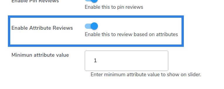 enable atrribute reviews
