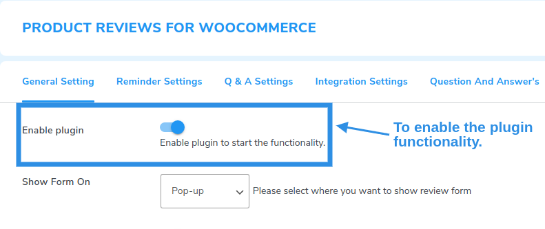 enable review plugin functionality