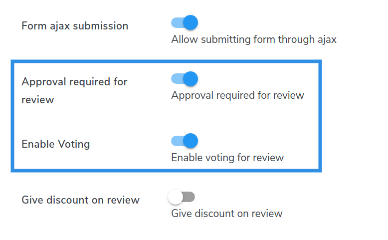 enable voting review