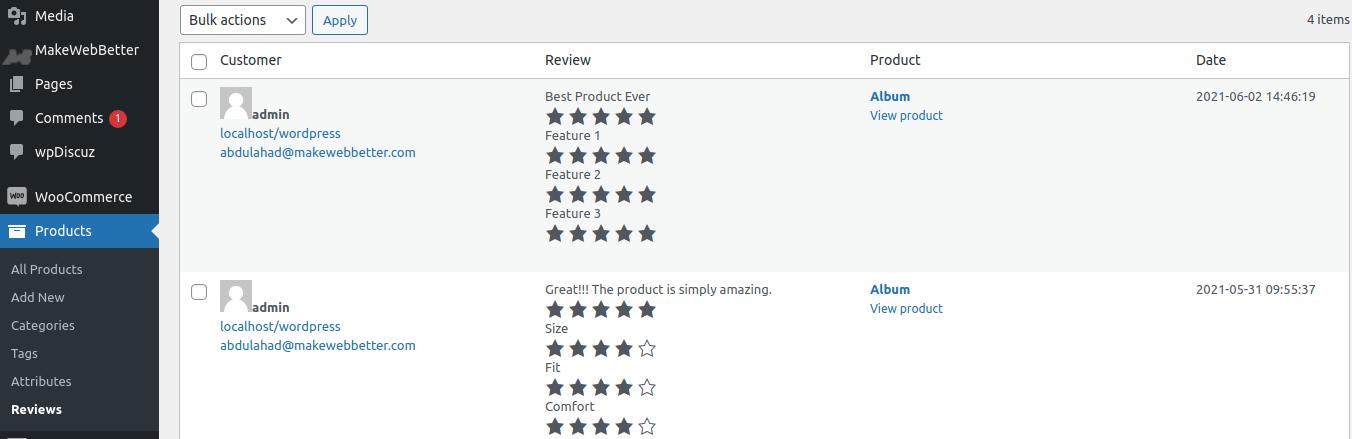 manage reviews