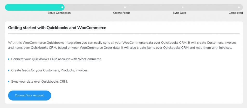 quickbooks woocommerce connection