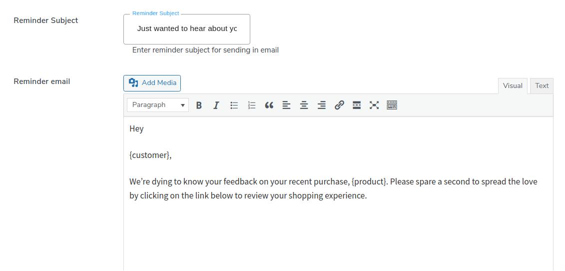 send email reminder