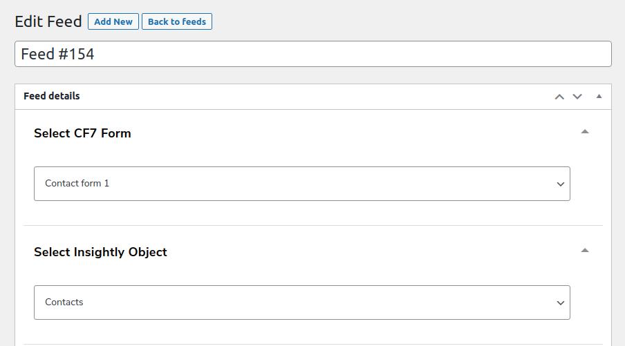 edit cf7 form feeds