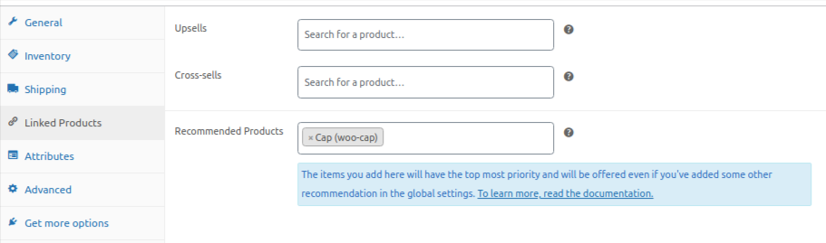 product for recommended plugin