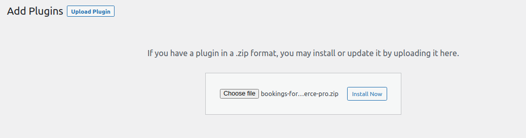 plugin installation