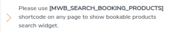 booking search widget