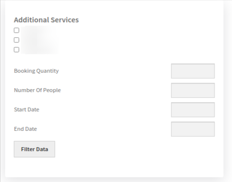 booking search page