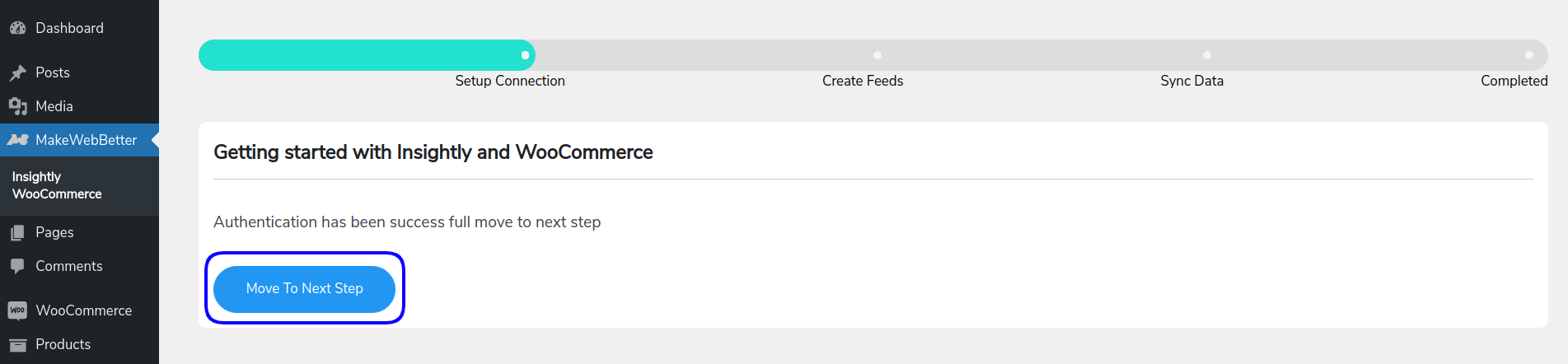 verification success dashboard
