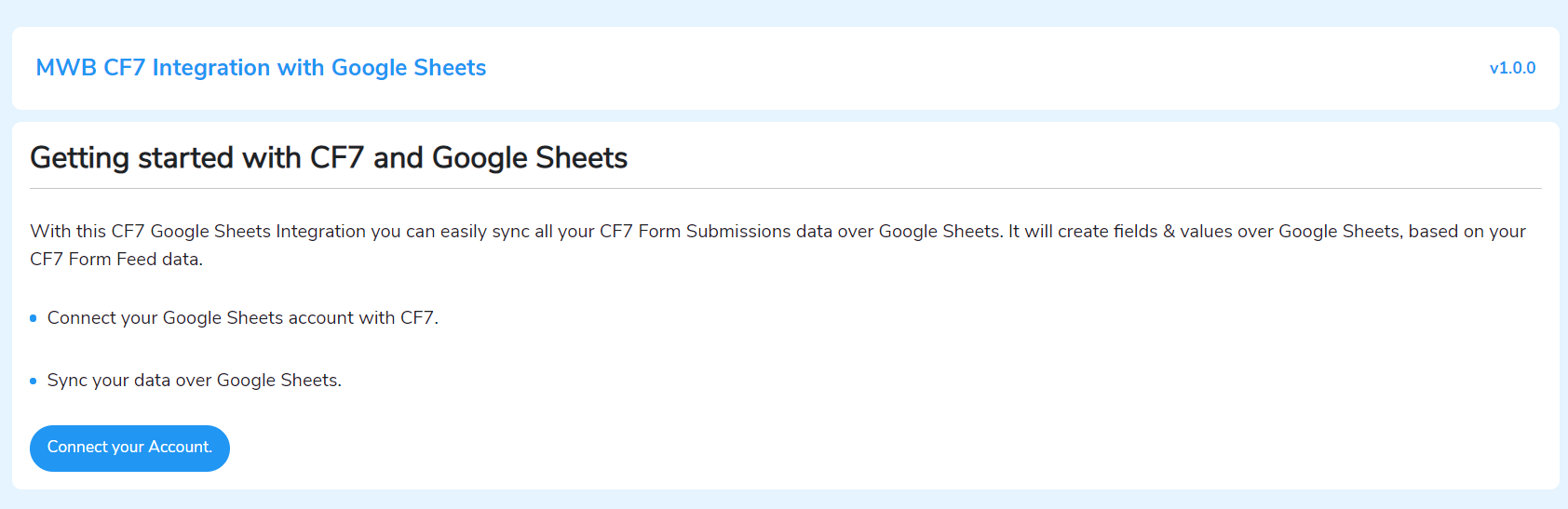 connecting with google sheets