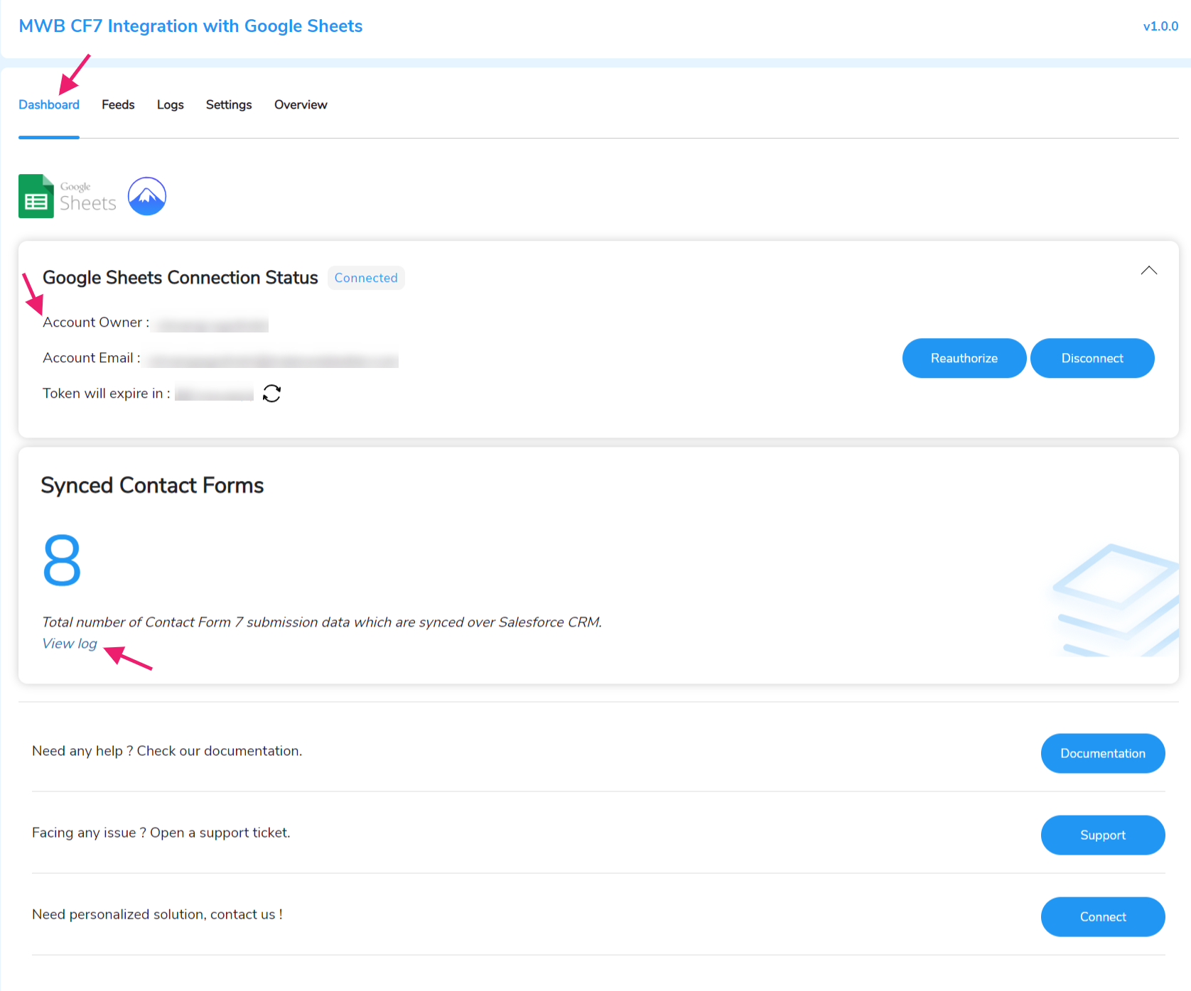 google forms  Feed Details