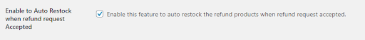 refund auto restock