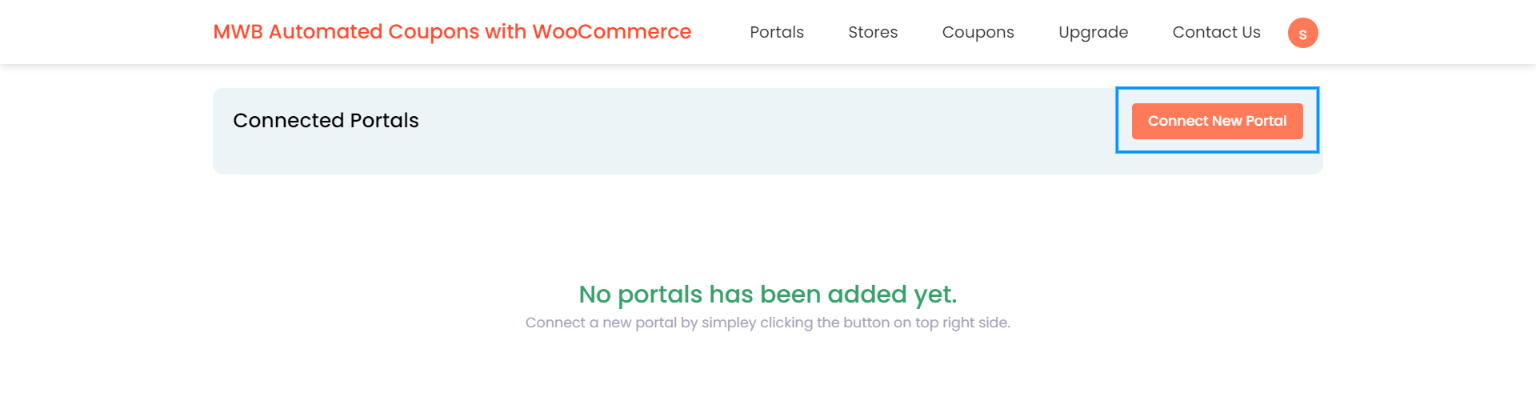 connect new portal - hubspot automated coupons with woocommerce