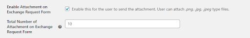 exchange request form