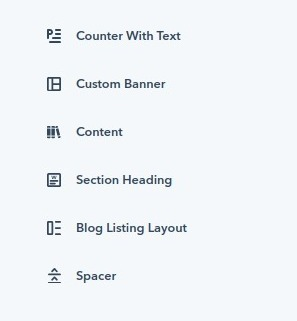 counter with text : hubspot theme