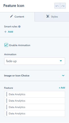 Feature Icon module : hubspot theme