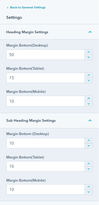 Section Heading module : HubSpot Theme