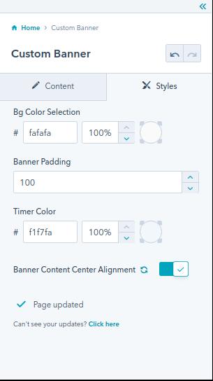 custom banner : hubspot theme
