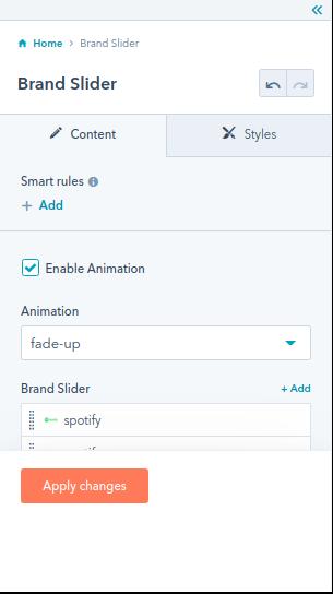 Brand Slider module : 1