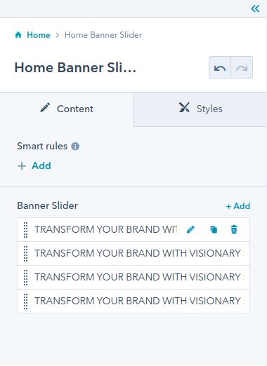 Home Banner Slider module : hubspot theme