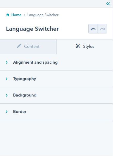 Language Switcher module : hubspot theme