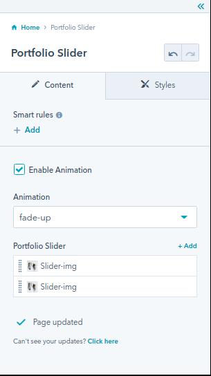 Portfolio Slider module : HubSpot theme