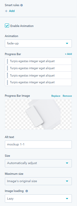 Progress Bar module : hubspot theme