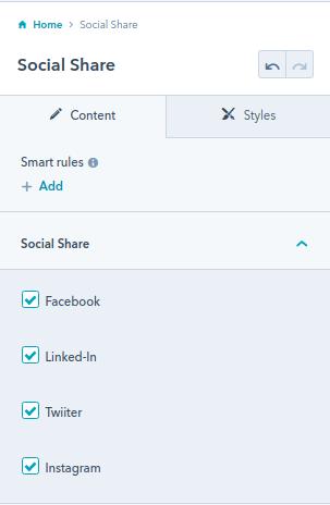 Social Share module : HubSpot theme