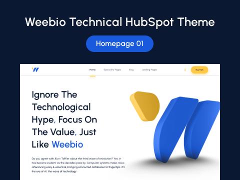 Homepage 01 : HubSpot Theme