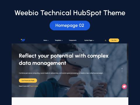 Homepage 02 : HubSpot Theme