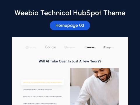 Homepage 03 : HubSpot theme