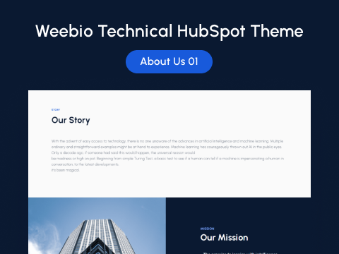 About Us 01 : hubspot theme