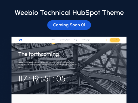 Coming Soon 01 : hubspot theme