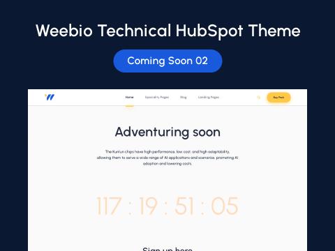 Coming Soon 02 : hubspot theme